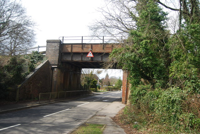 Railway bridge, Lower Weybourne Lane