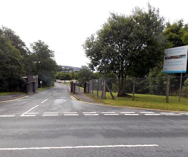 Entrance to Nantyglo Sports Centre