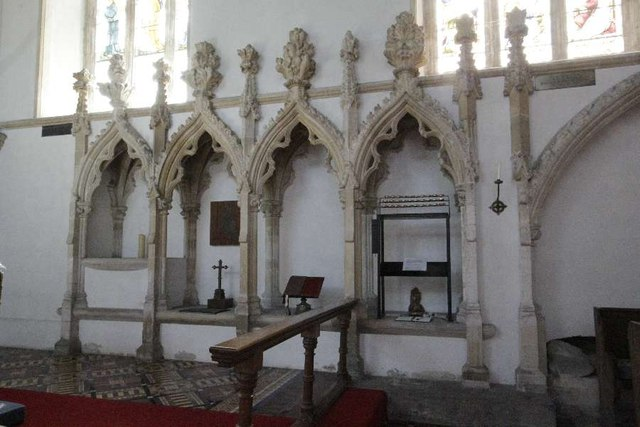 Fretwork in the chancel
