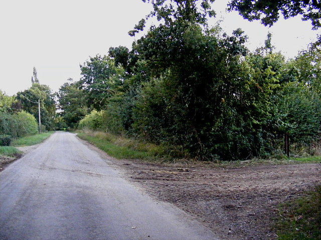 Heywood Road & field entrance