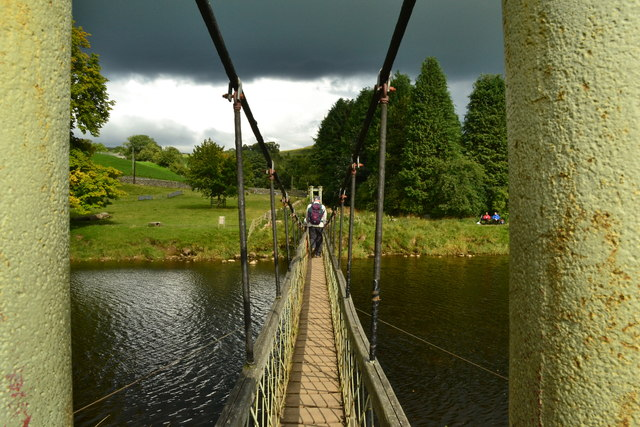 Suspension Bridge over the Wharfe