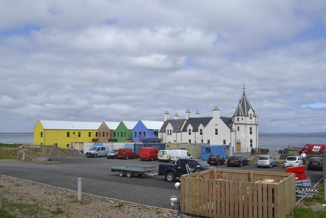 Rear View of the Hotel and Self-Catering Apartments, John O'Groats, Wick, Caithness