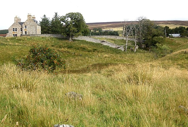 Walled garden of the old manse at Kirkton of Cabrach