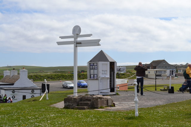 The Sign Post and Photographer's Hut at John O'Groats, Wick, Caithness