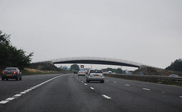 Footbridge west of J16, M4