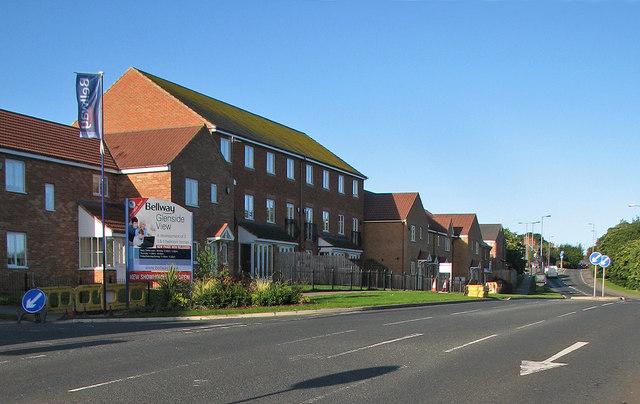 New houses at Pelton Fell