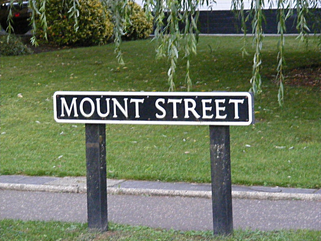Mount Street sign