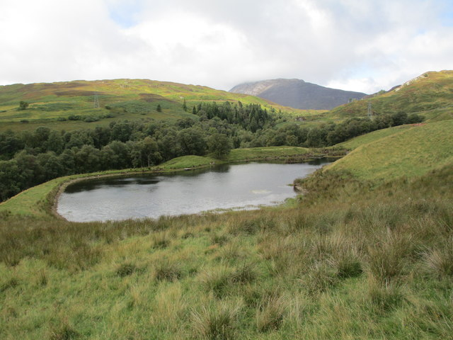 Unnamed lochan near the Keltney Burn