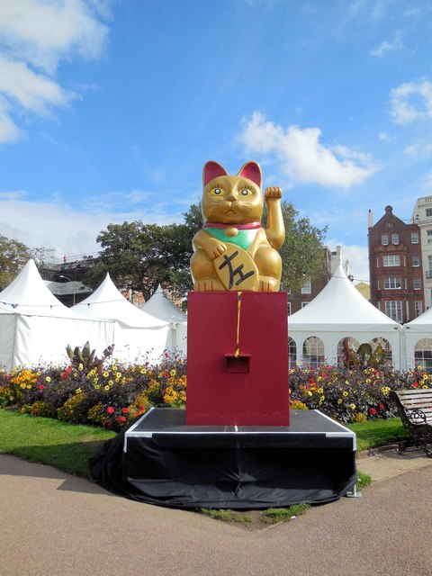 Lucky Cat at Japan exhibition