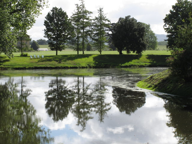 Croome Park, lake, trees and reflections