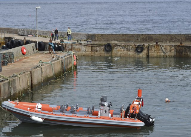Natural Explorer Ribcraft in the Harbour at John O'Groats, Wick, Caithness