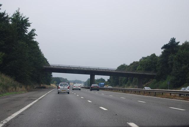 Bridge over the M4 near Foscote