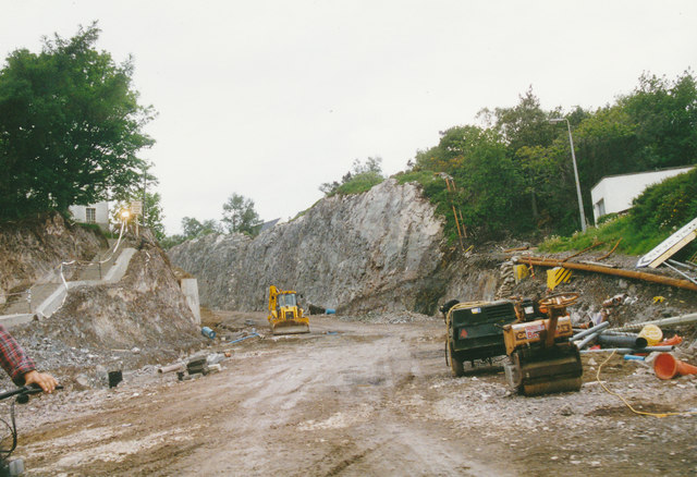 Building the road to the bridge, Kyle of Lochalsh