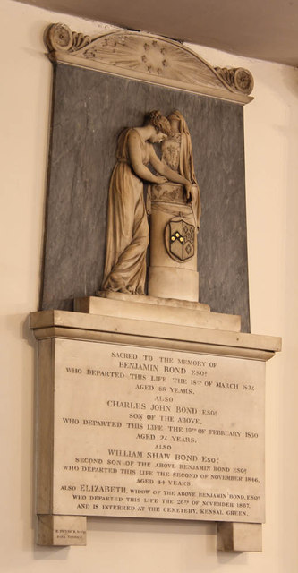 St John's Wood Church, Lord's Roundabouts - Wall monument