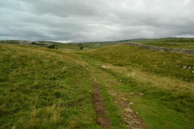 Dales Way path at Lea Green