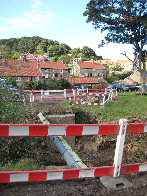 Footbridge  (1) washed away