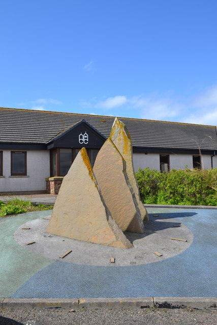 Standing Stones outside the Shops and Craft Centre at John O'Groats - 1