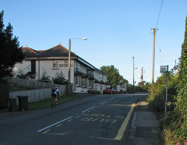 Cycling past The Moorings