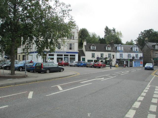 The square in Aberfeldy