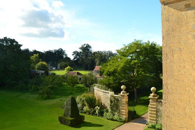 Part of the gardens at Nunnington Hall