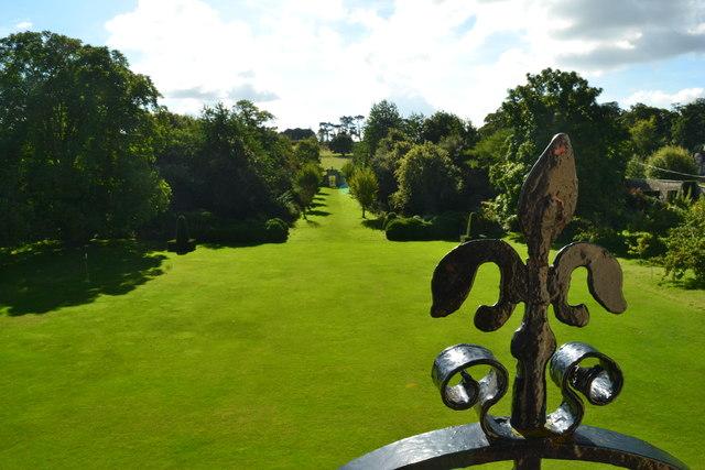 Nunnington Hall, lawns and woodland