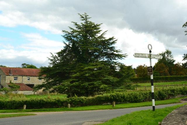 Old road sign at Nunnington