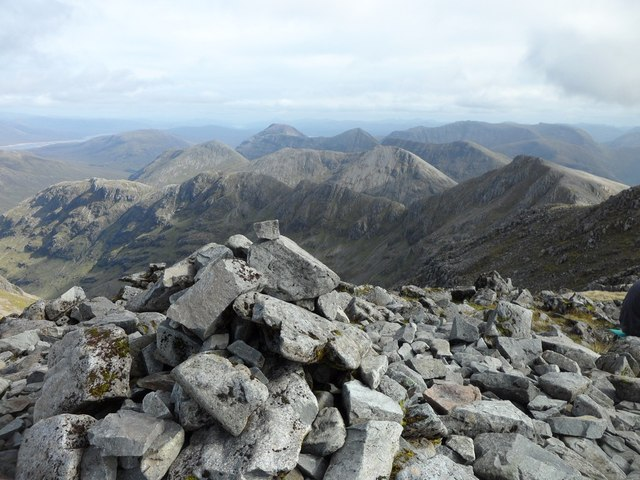 Bidean nam Bian summit view