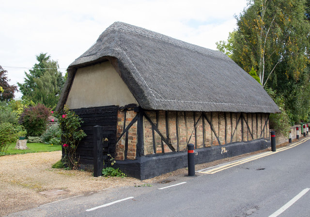 Thatched building off Huntingdon Road