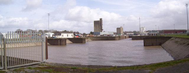 Tidal basin at Sharpness docks