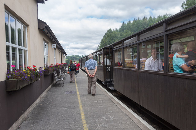 Pant Station of Brecon Mountain Railway