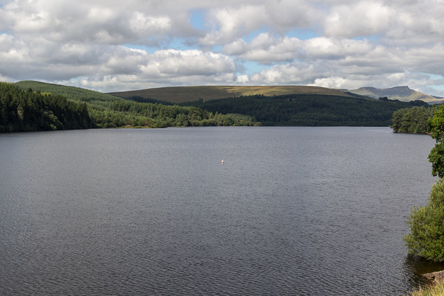 Pontsticill Reservoir from the Brecon Mountain Railway