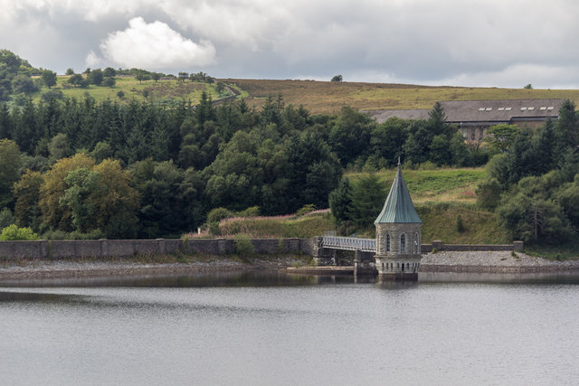 Pump House, Pontsticill Reservoir from the Brecon Mountain Railway