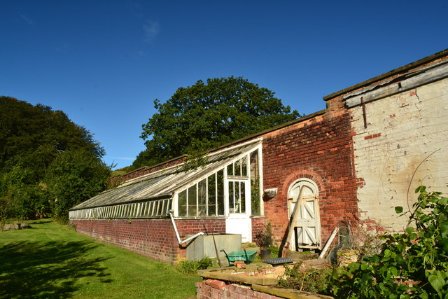 Lean-to greenhouse at Wrea Head Hotel