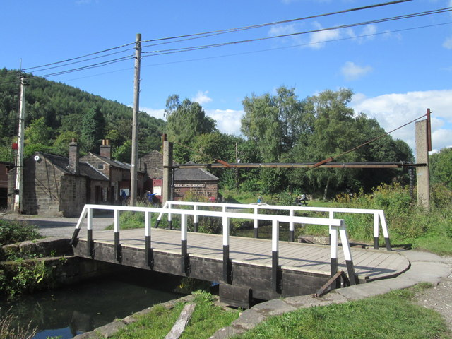 Swing bridge at High Peak Junction