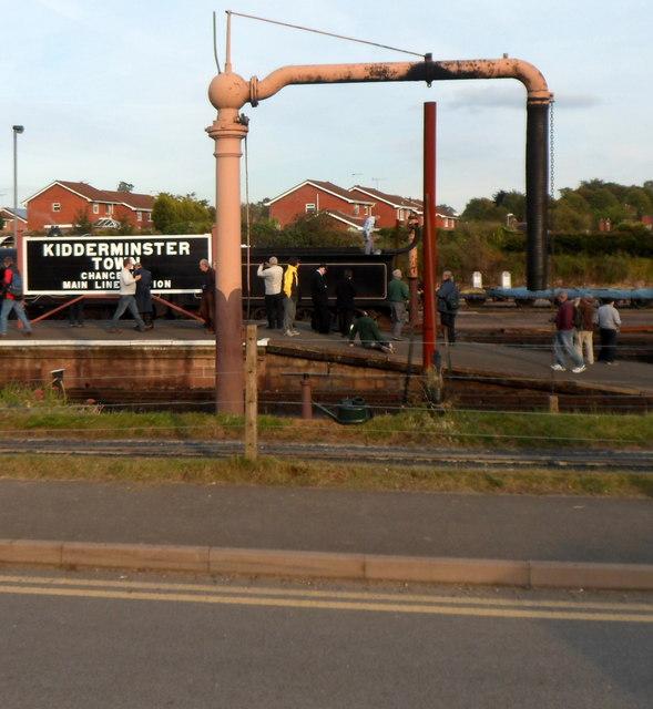 Water crane at Kidderminster Town railway station