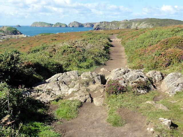 The Coast Path across the Picrite Peninsula