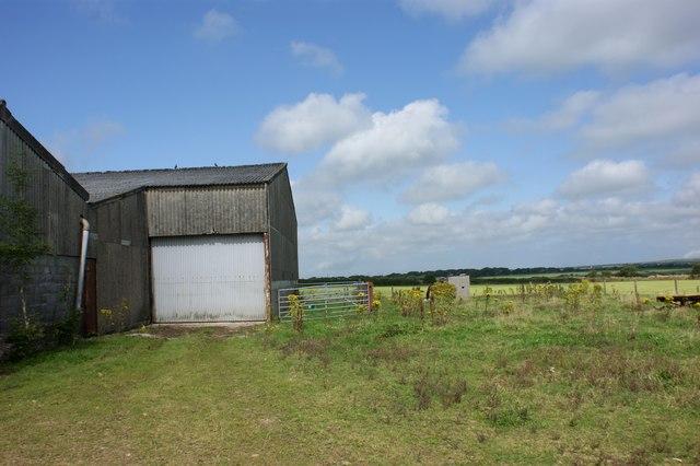 Barns near Hayscastle Tump