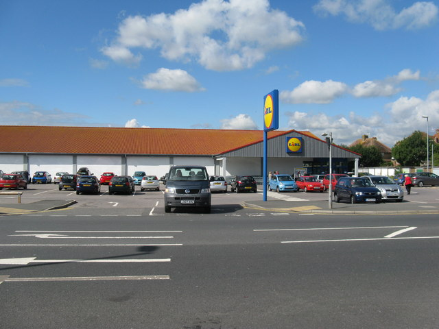 Lidl on the A259 at St Anthony's Hill Eastbourne