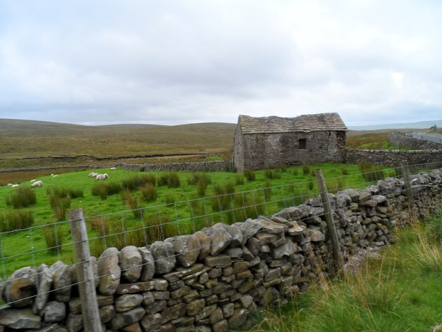 Stone building at the side of the B6255