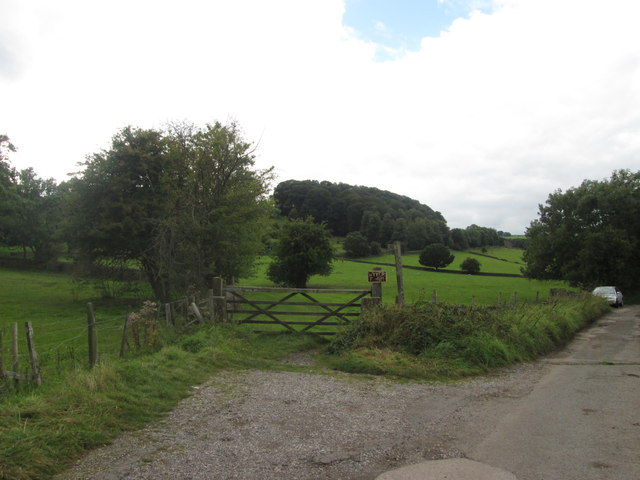 Start of the bridleway towards Wyver Farm