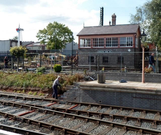 Wrangaton signalbox in Kidderminster