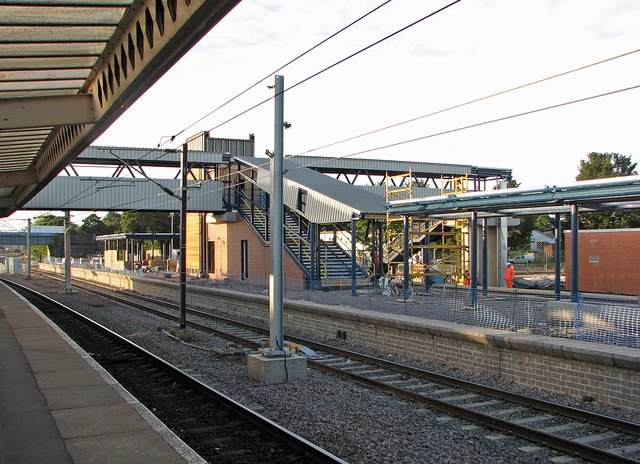 Peterborough Station: new platform and footbridge taking shape