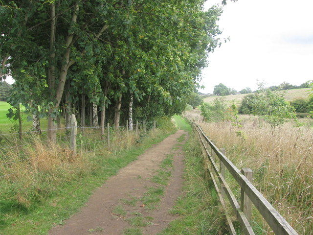 Footpath through the golf course north of Duffield