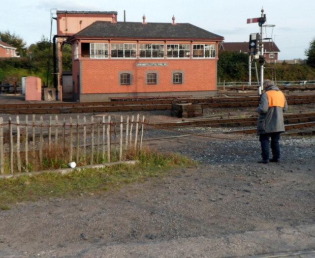 Kidderminster Town Station signalbox
