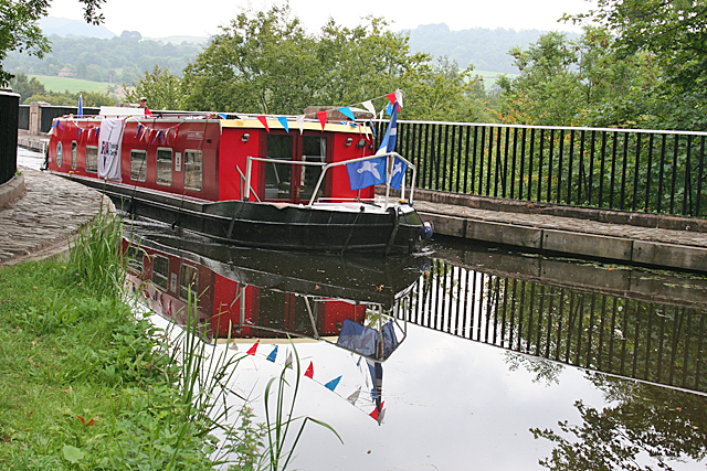 Narrowboat on the Union Canal