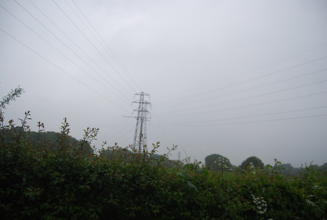 Pylon lines crossing