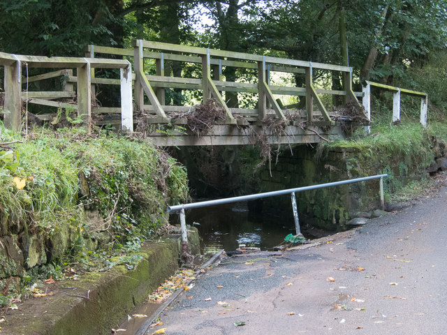 Ford at Barnby Beck with flood debris