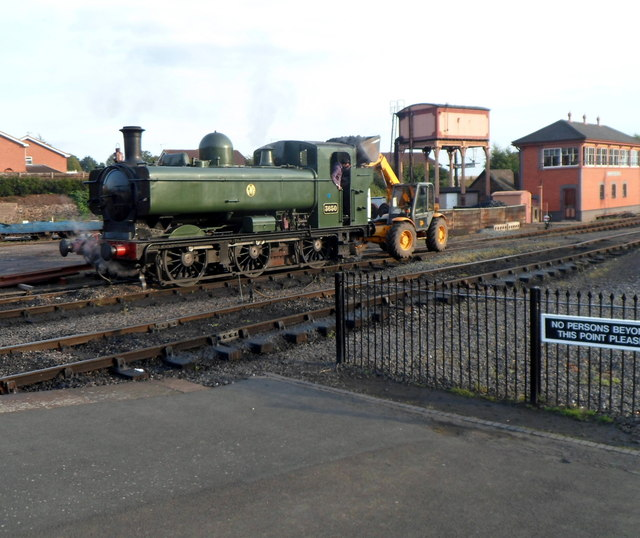 Recoaling a pannier tank locomotive at Kidderminster