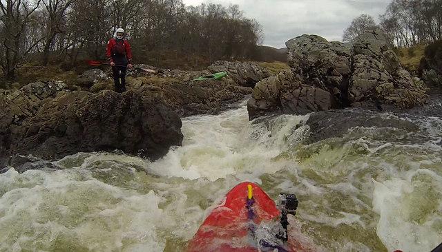 River Carron, rapid 550m below East Amat bridge