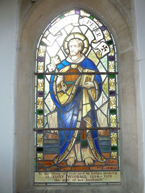 Combe Hay Church: stained glass window (i)